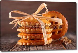 Красивые печенье с джемом