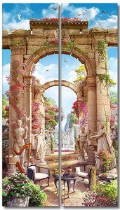 Невероятно красивый парк с античными скульптурами
