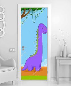 Фиолетовый динозаврик