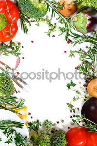 красивая рамка свежих овощей.