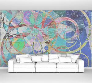 Абстрактный круговой фон живописи