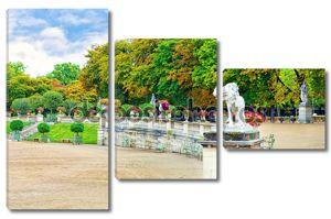 Люксембургский сад (jardin du Люксембург) в Париже, Франция