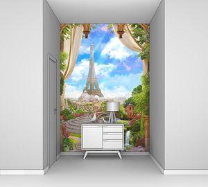 Коллаж с Эйфелевой башней