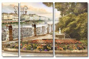 Парк с фонтаном на набережной