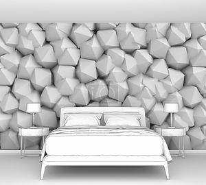 Абстрактный белая стена многогранники