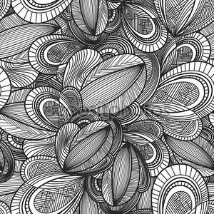 Черно-белая бесшовная текстура