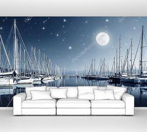 Яхт-гавань ночью