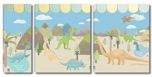 Детская планета динозавров