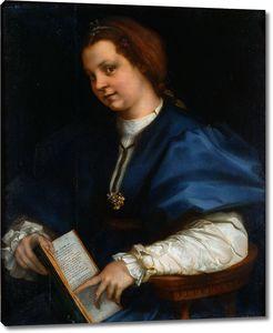Андреа дель Сарто. Дама с книгой стихов Петрарки