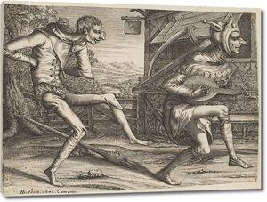 Брейгель. Ученики Два танцующих дурака