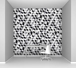 Абстракция из изометрических кубов