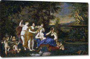 Альбани Франческо. Венера в окружении нимф и купидонов