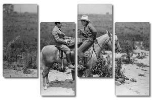 Игра в шашки на лошадях