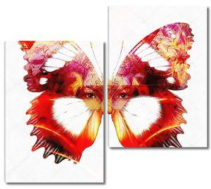 Лицо девушки как окрас бабочки