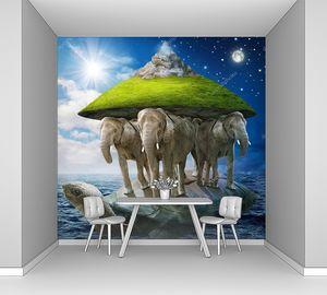 Черепаха, несущая слонов, несущих землю на спинах