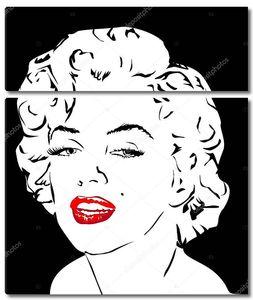 Мэрилин Монро с алыми губами