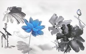 Лотосы нарисованные в китайской технике