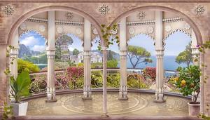 Терраса с колоннами