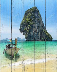 Лодки на phra Нанг Бич, Таиланд