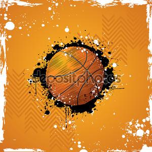 Гранж-фон с баскетбольным мячом