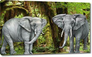 Могучие слоны