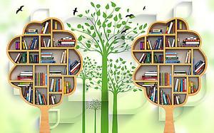 Книжные стилизованные полки