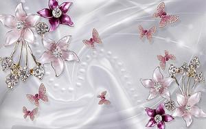 Разные украшения на шелке