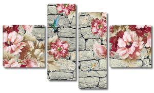 Цветы на каменной кладке
