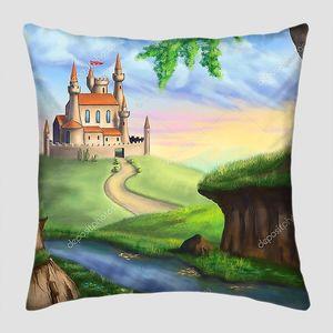 Сказочный замок у дороги
