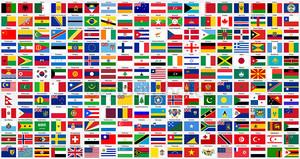 Флаги алфавитный мира