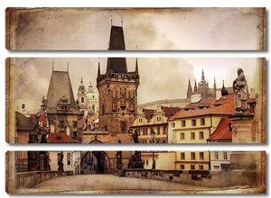 Старая Прага в винтажном стиле