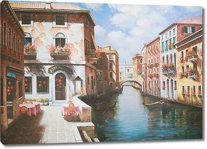 Прекрасная фреска с видом на солнечную Венецию