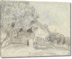 Ван Гог. Цветущие каштаны у дома