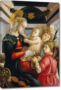 Боттичелли Сандро. Мадонна с Младенцем и ангелами
