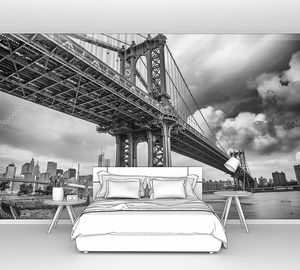 Манхэттенский мост вид снизу