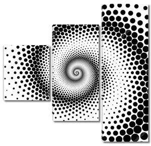 Дизайн спирали точки фоне