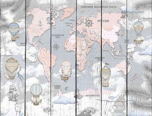 Карта мира на русском с воздушными шарами