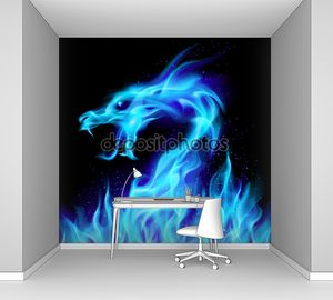 синий дракон огня