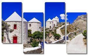 Традиционные греческие ветряные мельницы
