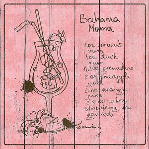 Hand drawn Bahama Mama cocktail