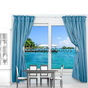 окно вид море
