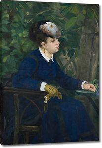 Пьер Огюст Ренуар. Женщина в саду (Женщина с чайкой)