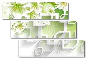 Зеленые, крупные лилии
