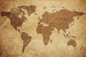 Всемирная карта текстура фон