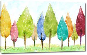 Радужные деревья