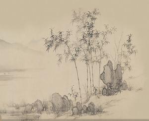 Бамбук с камнями
