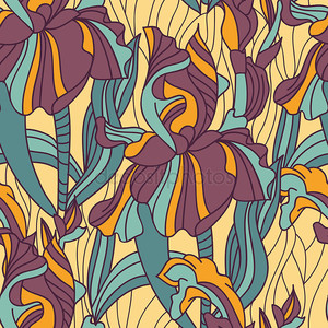 Абстрактные ирисов
