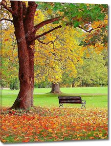 Осень в городском саду