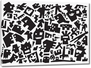 люди абстрактный фон