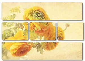 Лютик цветы на желтом фоне